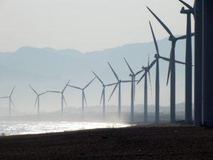Renewable energy, wind farm, wind turbine